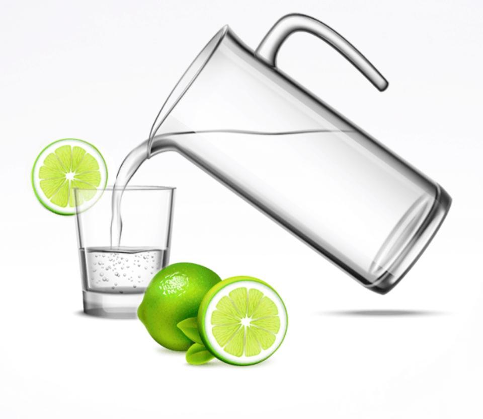 nalewanie wody doszklanki